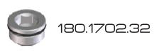 """Stopfen Aluminium D=28 3/4"""" M180 Braglia 180.1702.32"""