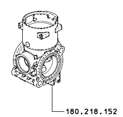 Motorventil Gehäuse Braglia 180.218.152