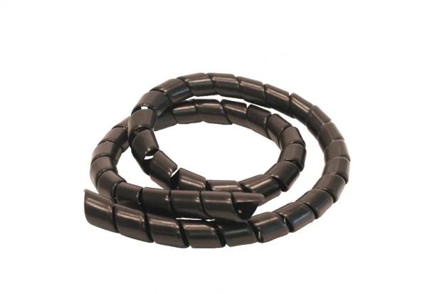 Spirale Kun. schwarz 9-13mm