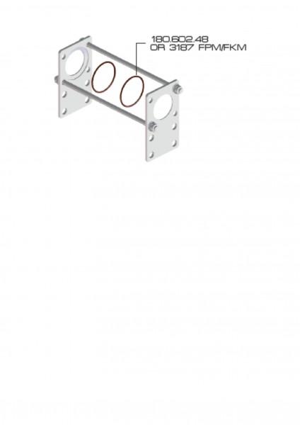 Halter Set M180 für 2 Ventile Braglia 180.805.1
