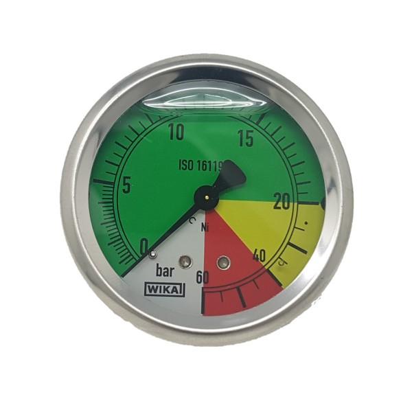 Manometer 60 bar Anschluss hinten Braglia 176.1005.24